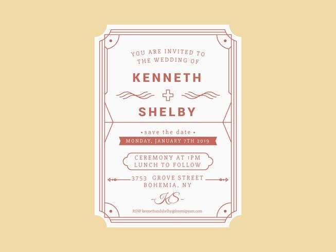 Unique Wedding Invitation Card Vector Download Free Vector Art