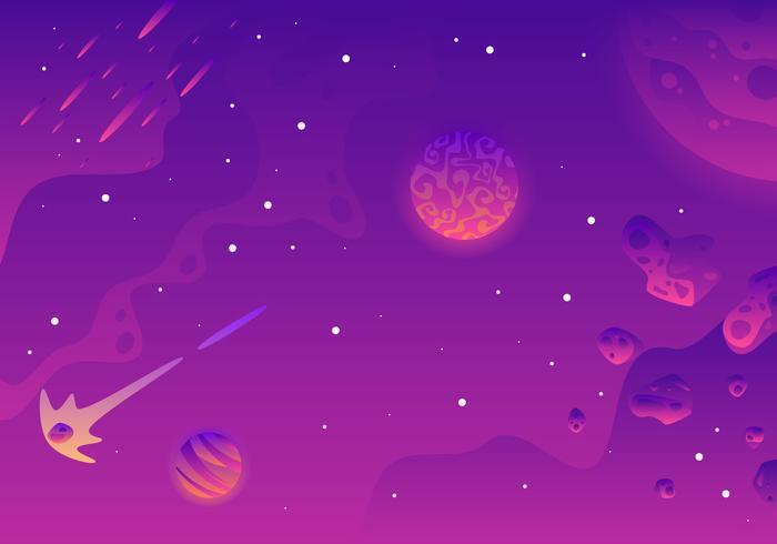 Galaxy Bakgrund Landskap Vector