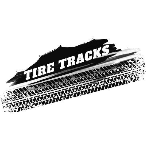Fondo de marcas de impresión grunge negro neumático pista
