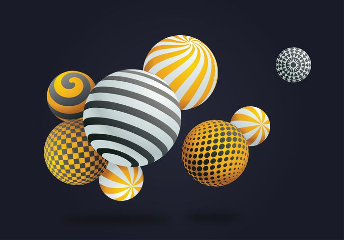 3D Spheres Vector Design