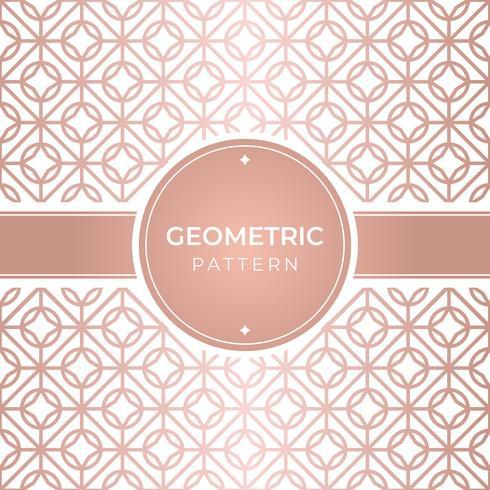 Patrón geométrico oro rosa sin costura