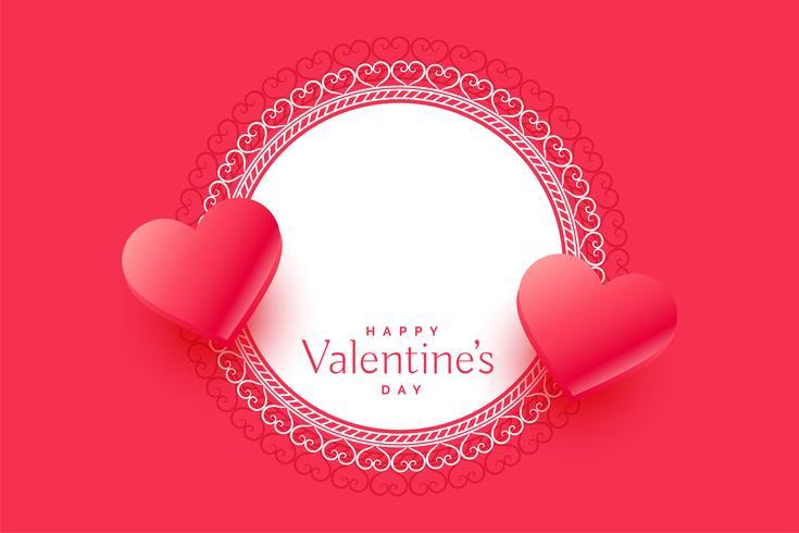 mooie Valentijnsdag harten groet met ruimte voor tekst