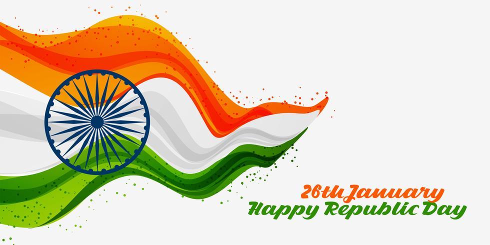 26. Januar glücklicher Tag der Republik von Indien-Hintergrund