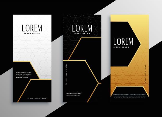 premium gouden verticale banner kaarten set