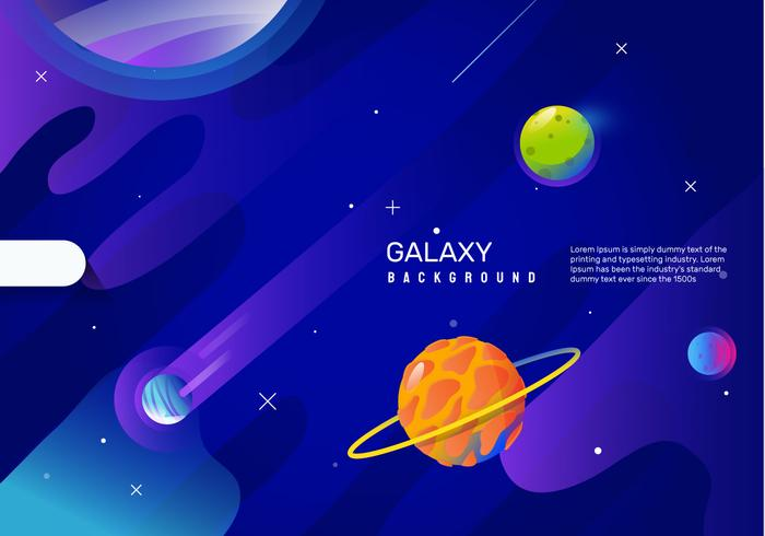 Space Galaxy Background Vector Illustration