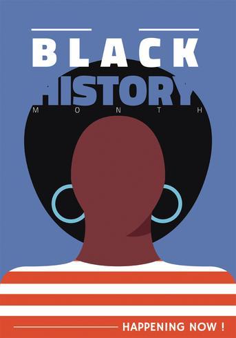 Mes de la historia negra Vector diseño