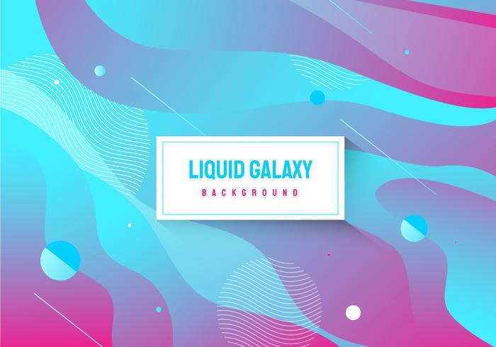 Fondo de neón abstracto color galaxia vector