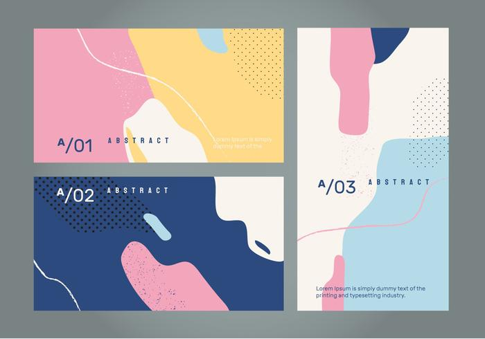 Abstract Retro Color Banner Vector Background