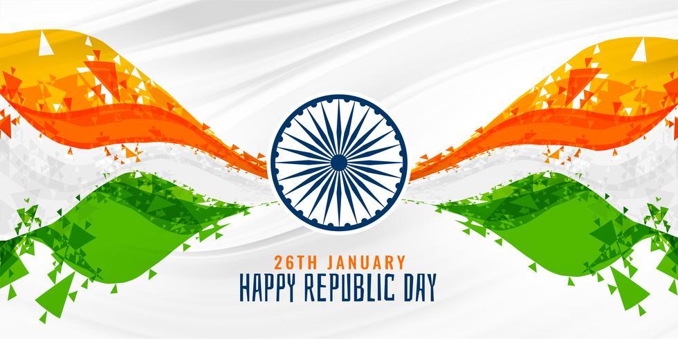 glücklicher Tag der Republik indischen abstrakten Flagge Banner Hintergrund