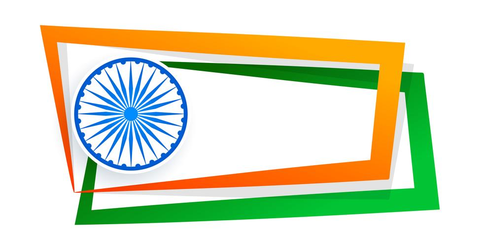 indischer Flaggenrahmen mit Textraum