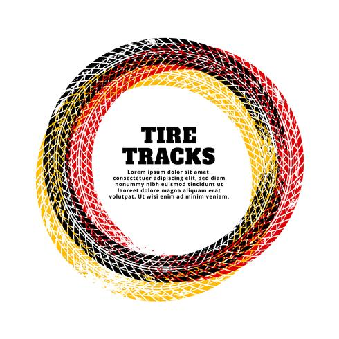 tire track circle frame background