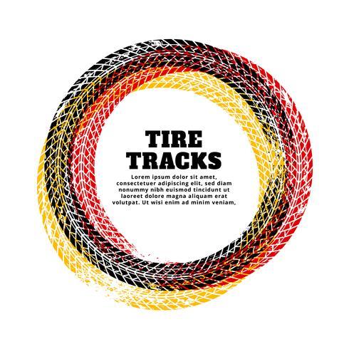 Fondo de marco de círculo de pista de neumático