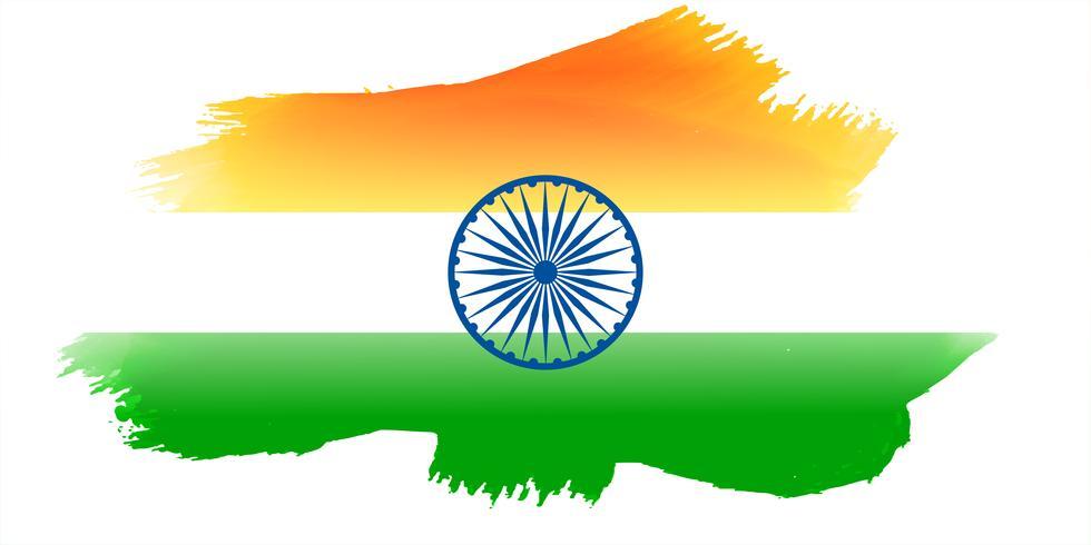 drapeau indien fait à l'aquarelle