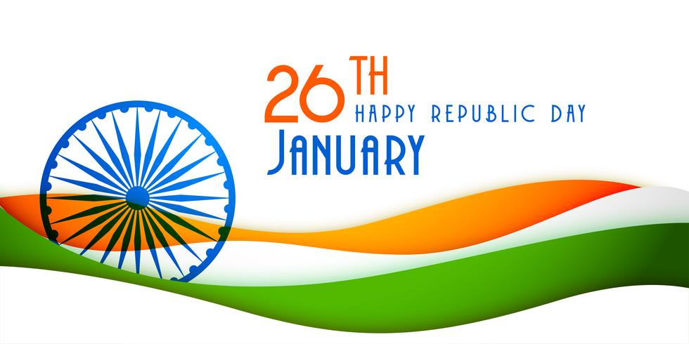stylish indian happy republic day banner