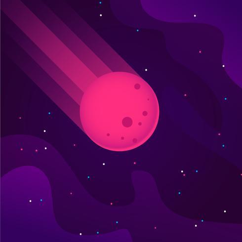 Vallende meteoren illustratie vector