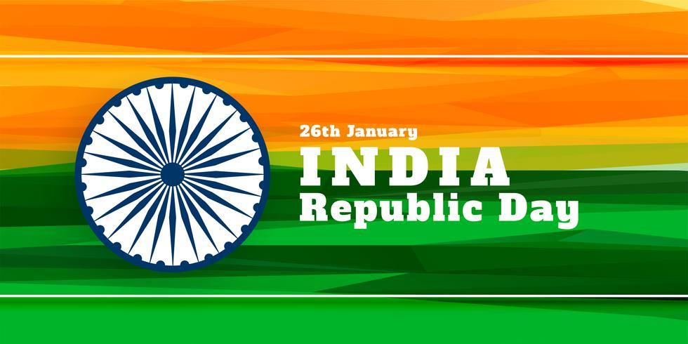 Banner der indischen Flagge für Tag der Republik