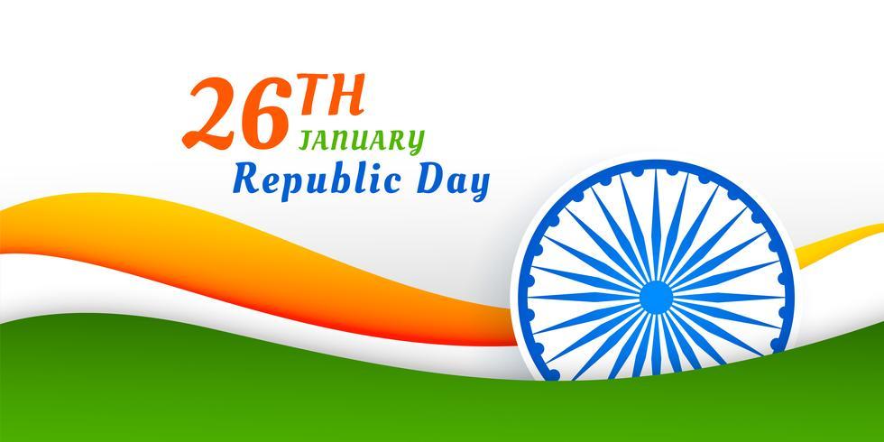diseño de la bandera del día feliz república india