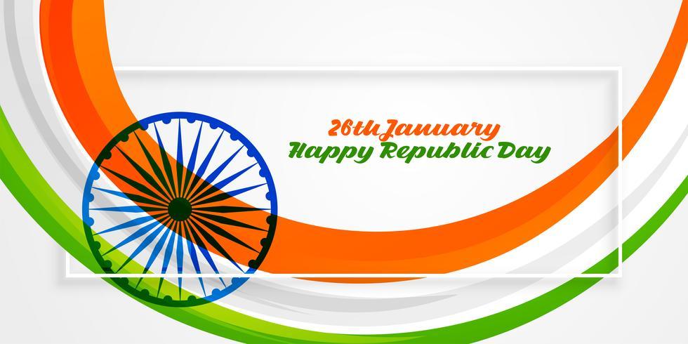 feliz república día de la india 26 de enero banner