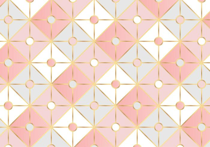 Geometrische Rose Gold Square patroon achtergrond vector