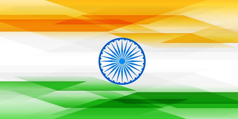 Bandera India abstracta en banner de estilo geométrico