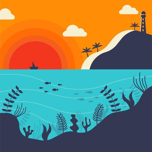 The Ocean and Underwater Vector - Download Free Vector Art, Stock Graphics & Images