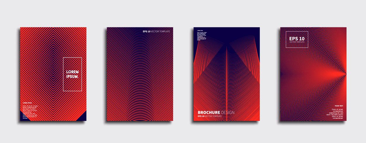 Mínimo Vector desenhos de capa. Modelo de cartaz do futuro.
