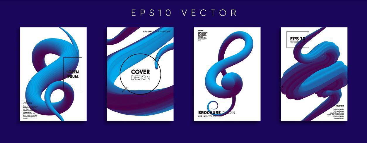 Minimale Vector-Cover-Designs. Zukünftige Plakatschablone. vektor