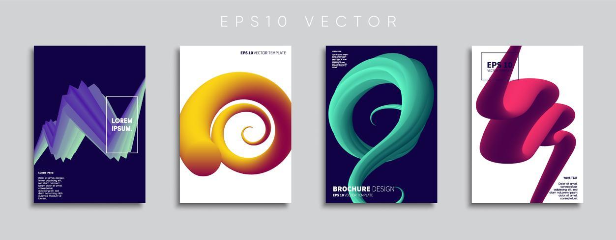 Minimal Vector cover designs. Future Poster template.