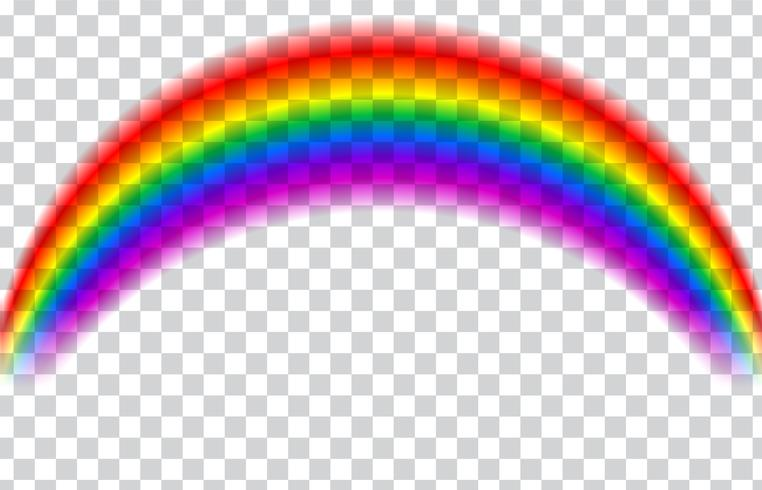 Arcoiris transparente Ilustracion vectorial Arco iris realista sobre fondo transparente. vector