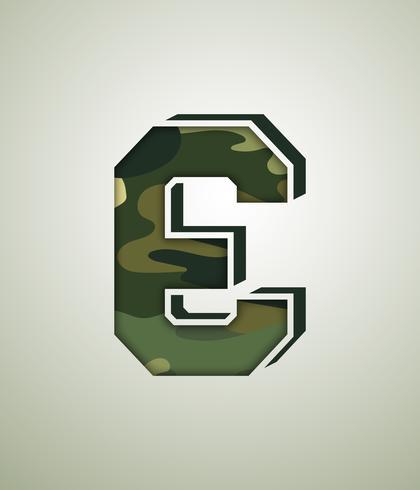 Caractère de camouflage, polices vectorielles détaillées
