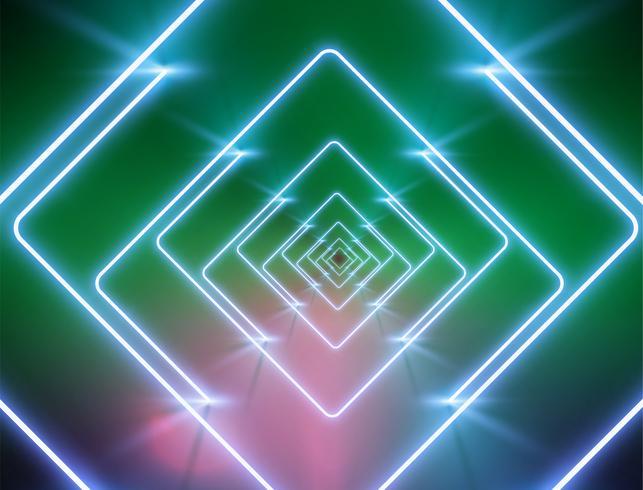 Fondo de luz de neón altamente detallado, ilustración vectorial