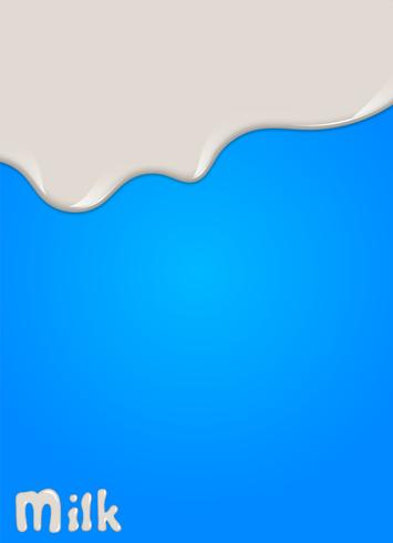 Gota de leche realista, salpicaduras, líquido aislado sobre fondo azul. ilustración vectorial vector