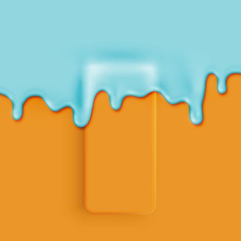 Smart phone 3D opaco dettagliato in alto ricoperto di vernice