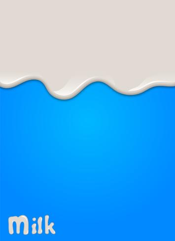 Realistic milk drop, splashes, liquid isolated on blue background. vector illustration