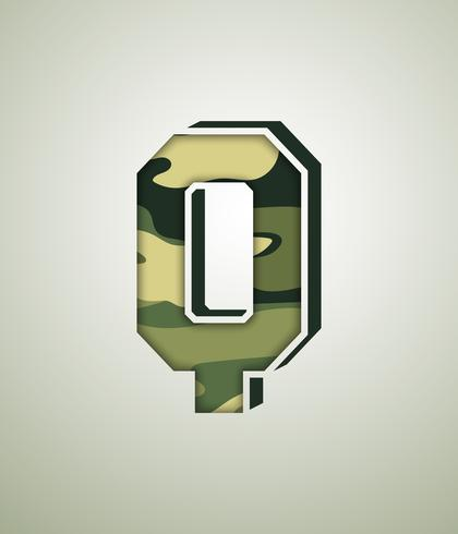 Camouflage Character, detailed vector fonts