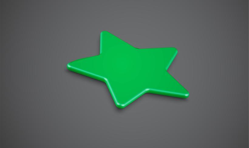 Sternbewertung 3D oder Hintergrund, Vektorillustartion