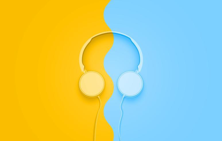 Realistas 3D divididos auriculares de colores pastel con cables