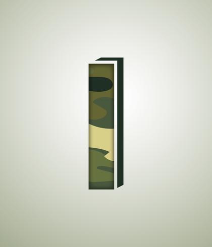Personagem de camuflagem, fontes vetoriais detalhadas