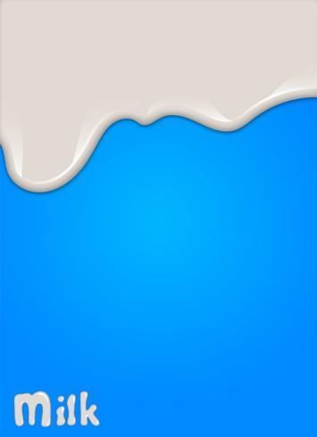 Realistischer Milchtropfen, spritzt, Flüssigkeit lokalisiert auf blauem Hintergrund. Vektor-Illustration vektor