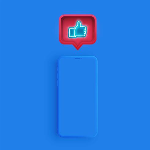 Matte smartphone mall med en talbubbla vektor