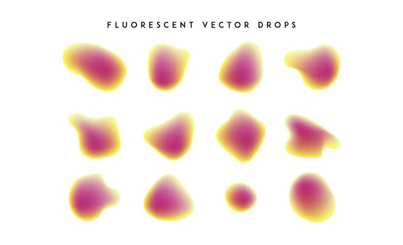 Gradiente de formas vivas. Colección colorida abstracta moderna del líquido del vector.