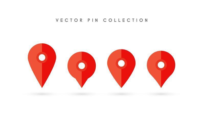 Pin de ubicación. Diseño plano del vector del icono del perno del mapa