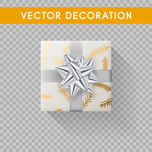 Caja de regalo realista vista superior. Cajas de regalo sin fondo. Ilustración vectorial vector