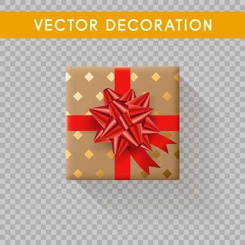 Realistic gift box top view. Gift boxes without background. Vector illustration