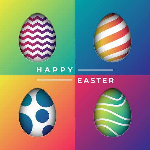 Fond d'oeufs de Pâques à motifs découpés