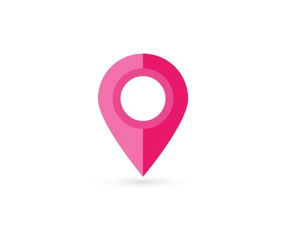 Location pin. Map pin flat icon vector design.