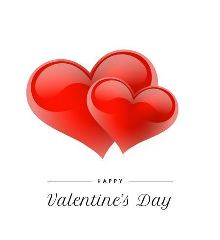 Fundo Dia dos Namorados com corações realistas. Ilustração vetorial Bandeira de amor bonito ou cartão