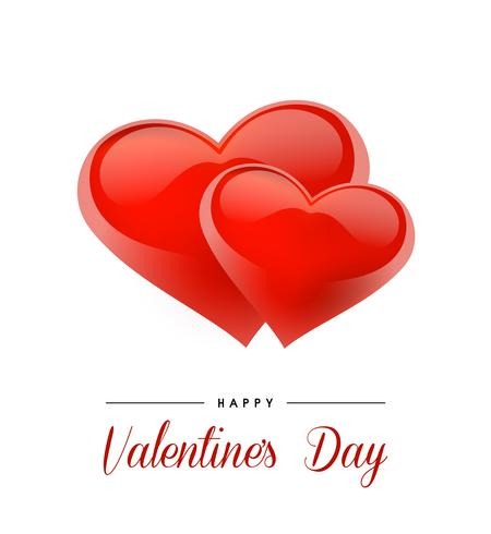 Fondo de San Valentín con corazones realistas. Ilustracion vectorial Bandera linda del amor o tarjeta de felicitación