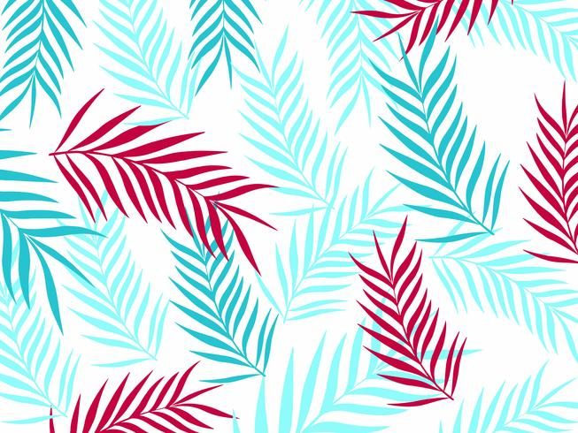 Tropical jungle leaves seamless pattern background