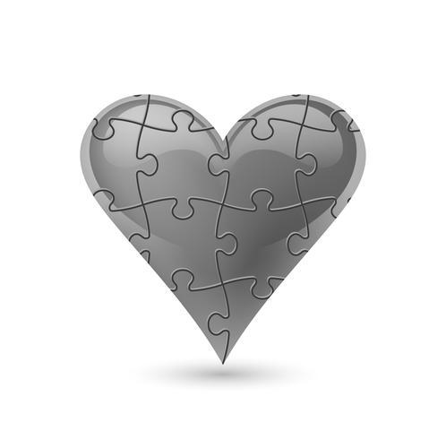 Cuore di puzzle Illustrazione vettoriale